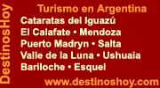 DestinosHoy: Bariloche • Esquel • Puerto Madryn • Jujuy • Cataratas del Iguazú • Salta • Valle de la Luna • El Calafate • Ushuaia